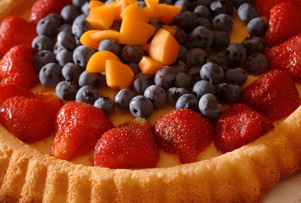 fruit cake for breakfast at hotel alle alpi in val di fassa