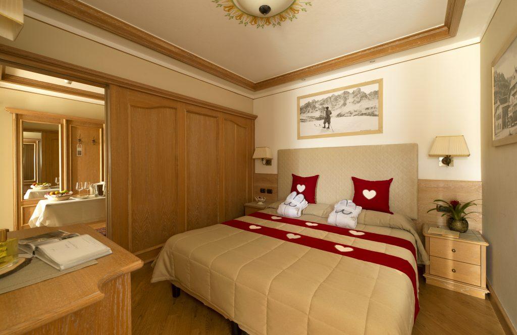 Zimmer Hotel Alle Alpi 4 Sterne in Moena