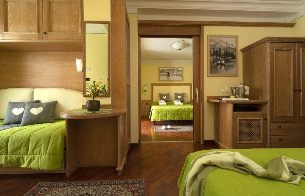 camere relax comunicanti Hotel Alle Alpi in Val di Fassa