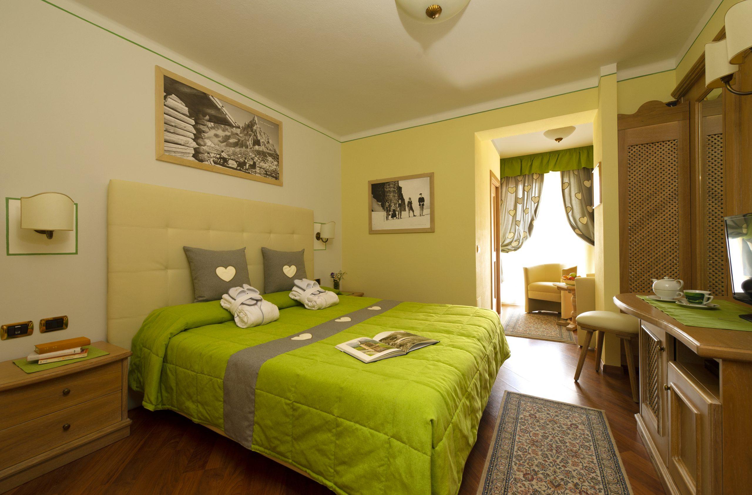 camere in val di Fassa a Moena, Hotel 4 stelle Val di Fassa, Camera Relax, Camera Comfort, Family Room, Camera Singola
