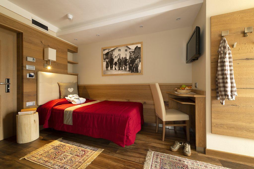 camera singola Hotel Alle Alpi Beauty e Relax in val di Fassa