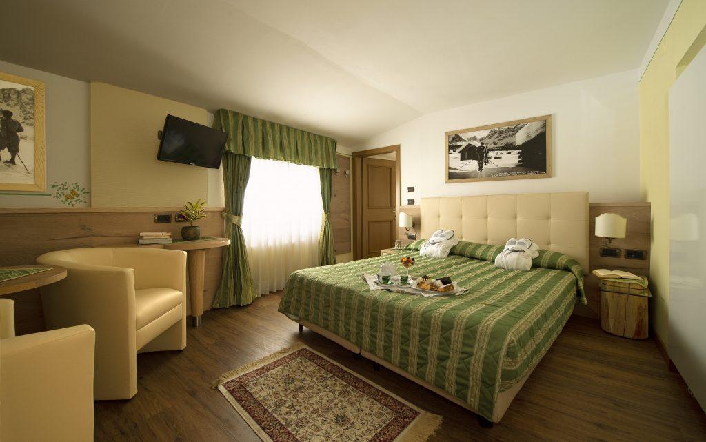 camera singola Hotel Alle Alpi nelle Dolomiti