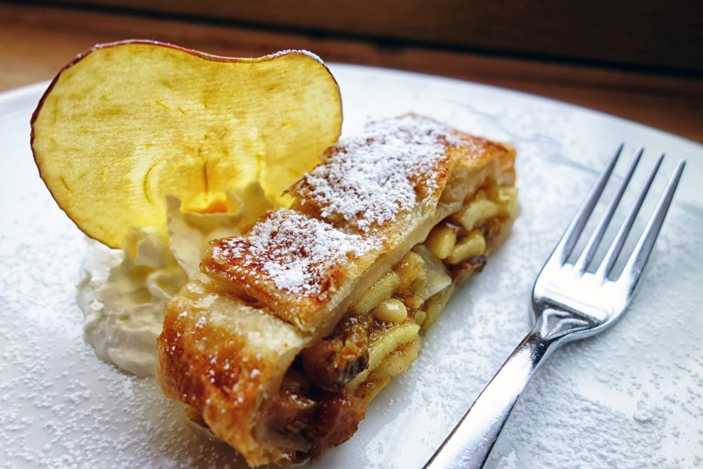 strudel is a typical dish from trentino