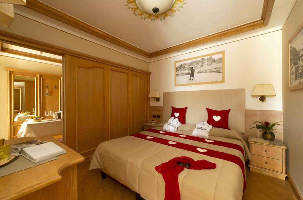 la stanza suite relax dell'hotel alle alpi beauty e relax