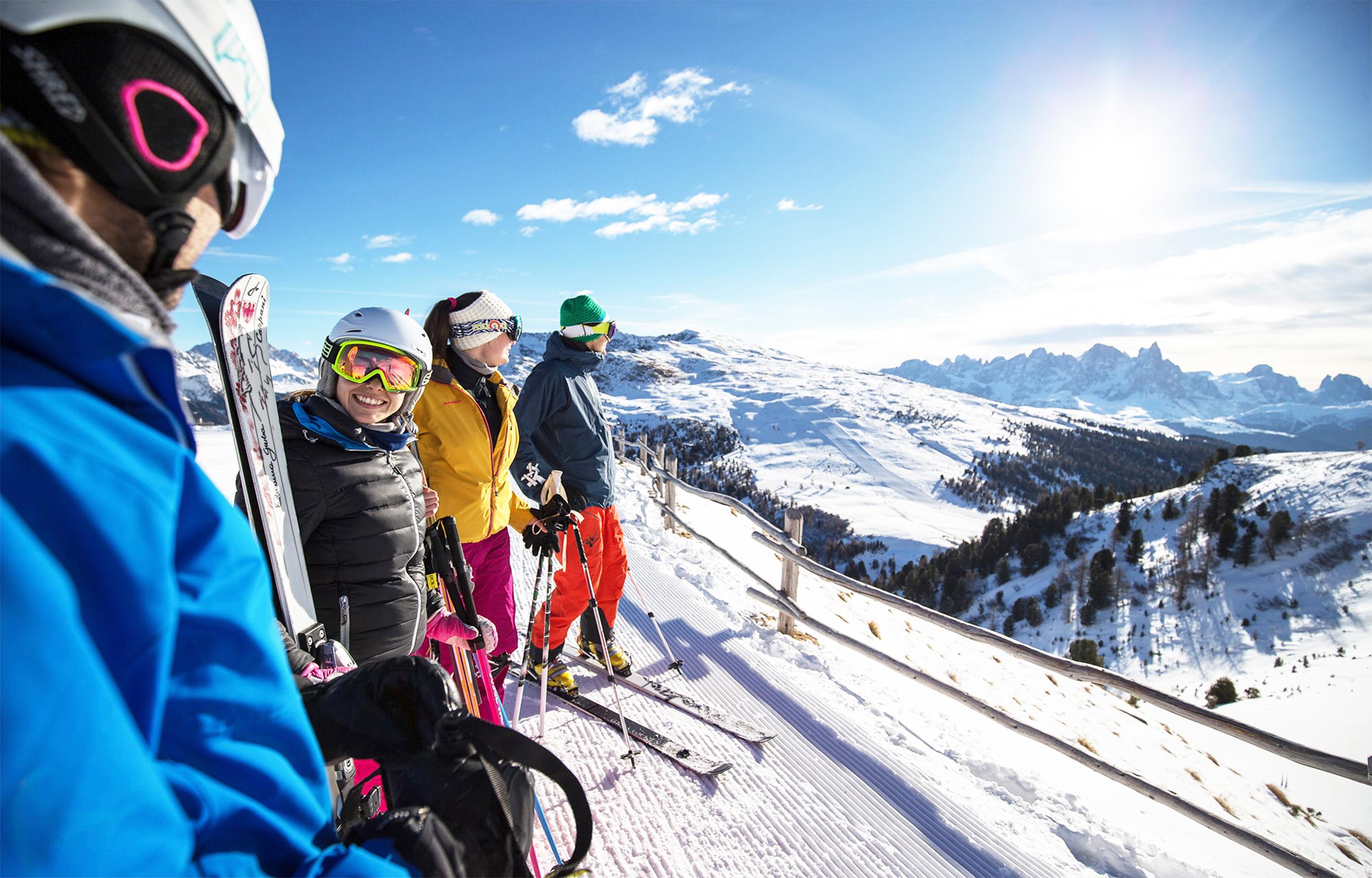 Skifahren im Herzen der Dolomiten des Trentino