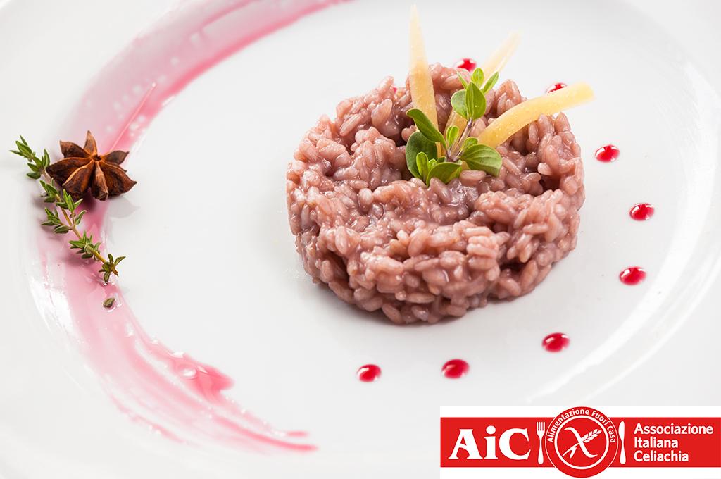 gluten-free risotto from the hotel alle alpi restaurant in val di fassa