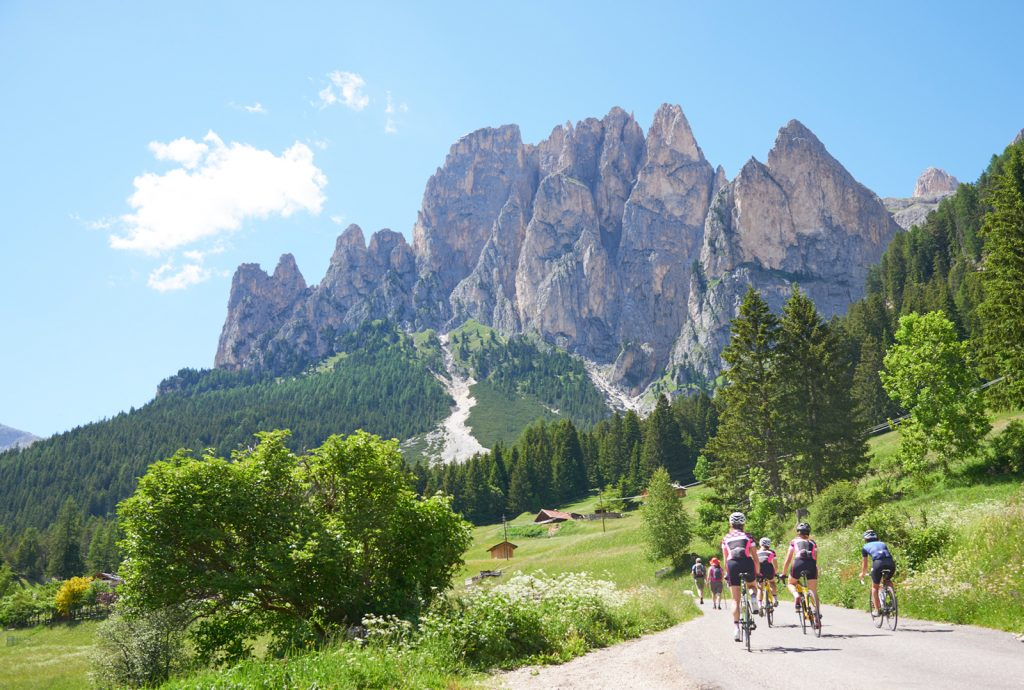 bike ride in val di fassa