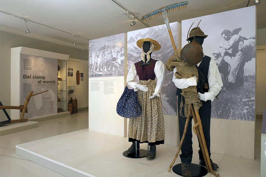 particolare del museo ladino in Val di fassa