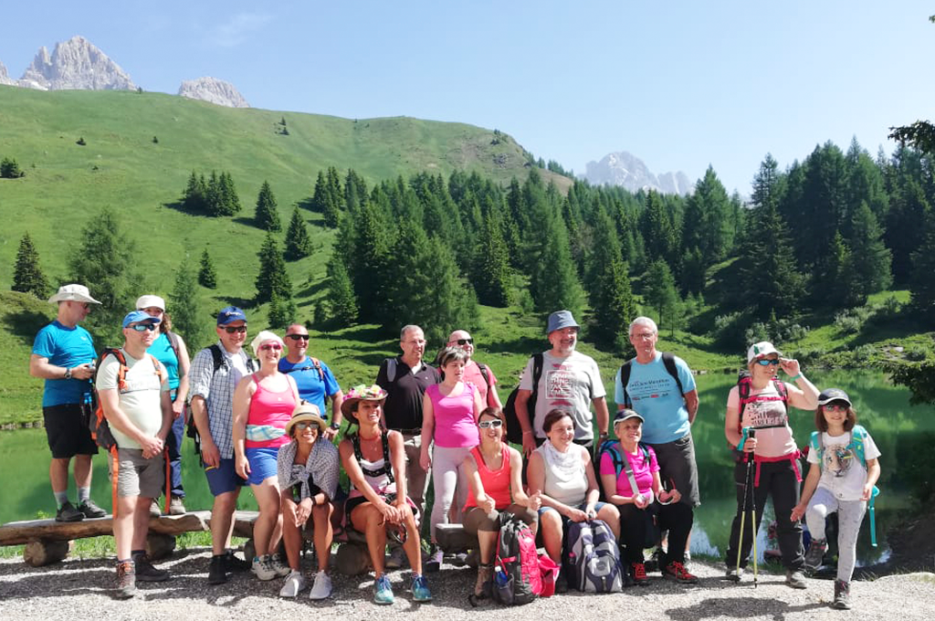 outdoor activity with our guest in val di fassa